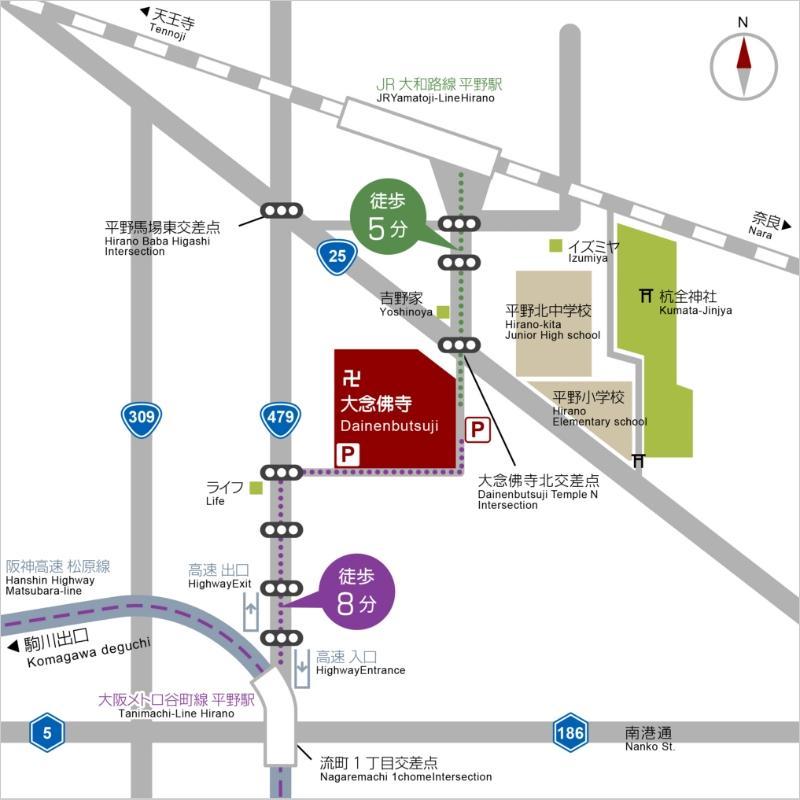 交通アクセス(拡大マップ)